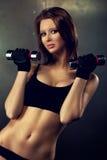 Młody sprawności fizycznej kobiety portret obrazy stock