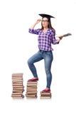 Młody studencki narządzanie dla szkolnych egzaminów Fotografia Stock