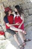 Młody szczęśliwy kobieta w ciąży & jej mąż fotografia royalty free