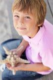 Młody target54_1_ rozgwiazdy młoda chłopiec Zdjęcia Stock
