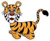 Młody tygrysi ono uśmiecha się ilustracja wektor