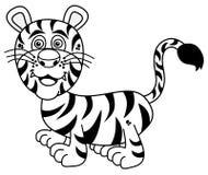 Młody tygrysi ono uśmiecha się dla barwić Zdjęcia Royalty Free