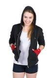 Młody uśmiechnięty żeński bokser Obraz Royalty Free