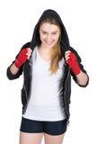 Młody uśmiechnięty żeński bokser Obrazy Royalty Free