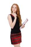 Młody uczeń odizolowywający zdjęcie stock