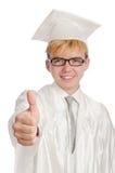 Młody uczeń odizolowywający Obrazy Stock