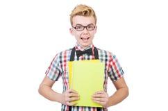 Młody uczeń odizolowywający Zdjęcia Stock