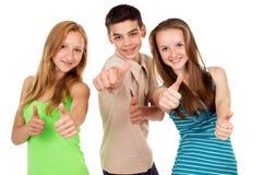 Młody ucznia przedstawienia znaka ok Zdjęcia Stock