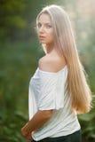 Młody zmysłowy & piękny kobieta portret obrazy royalty free