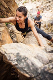 Młodych arywistów Rockowy pięcie Fotografia Royalty Free