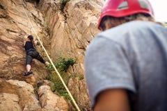 Młodych arywistów Rockowy pięcie Obraz Royalty Free