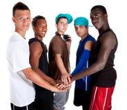 młodzi świezi grupowi modni nastolatkowie zdjęcie royalty free