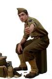 Młodzi Amerykańskiego żołnierza przedstawienia przygotowywają Obrazy Royalty Free