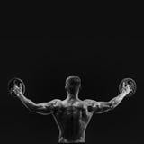 Młodzi bodybuilder udźwigu ciężary Obraz Royalty Free