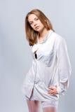 młodzi doktorscy ładni biel fotografia royalty free