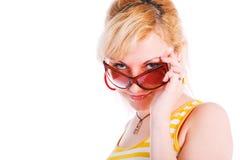 młodzi dziewczyn piękni szkła zdjęcia stock