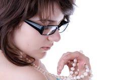 młodzi dziewczyn szkła obrazy stock