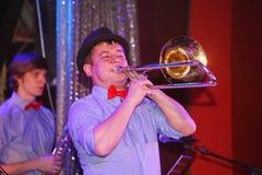 Młodzi geniuszi jazz przy świetlicowy olimpia Zdjęcie Stock