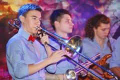 Młodzi geniuszi jazz przy świetlicowy olimpia Fotografia Stock