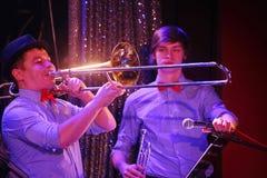 Młodzi geniuszi jazz przy świetlicowy olimpia Obrazy Stock