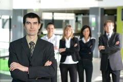 młodzi grupowi biznesów ludzie pięć Obrazy Stock