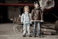 Młodzi lotnicy obraz royalty free