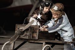 Młodzi lotnicy zdjęcie royalty free