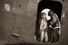 Młodzi lotnicy obraz stock