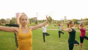 Młodzi Ludzie Robią joga zbiory wideo