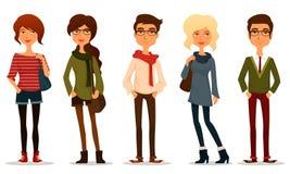 Młodzi ludzie z modniś mody stylem Fotografia Stock