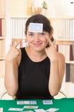 Młodzi piękni dziewczyn karta do gry Obrazy Stock
