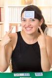 Młodzi piękni dziewczyn karta do gry Obraz Stock