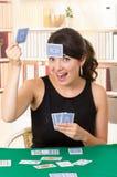 Młodzi piękni dziewczyn karta do gry Zdjęcie Royalty Free