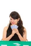 Młodzi piękni dziewczyn karta do gry Obrazy Royalty Free
