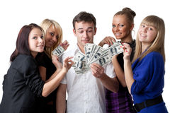 młodzi pieniędzy ludzie Obrazy Royalty Free