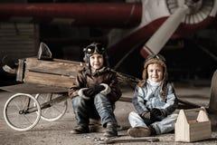 Młodzi piloci zdjęcia royalty free