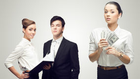 Młodzi pomyślni ludzie biznesu Obraz Royalty Free