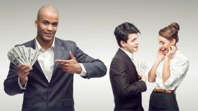 Młodzi pomyślni ludzie biznesu Zdjęcia Stock