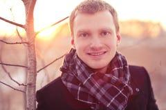 Młodzi pozytywni biznesowi mężczyzna Fotografia Stock