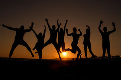 młodzi szczęśliwi ludzie Fotografia Stock