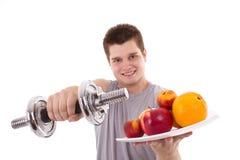 młodzi zdrowi ćwiczenie mężczyzna Fotografia Royalty Free