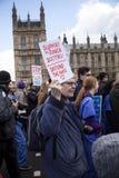 Młodzieżowe lekarki Marzec na Downing Street Fotografia Royalty Free