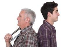 Młodzieżowi i starsi rzemieślnicy Zdjęcie Stock