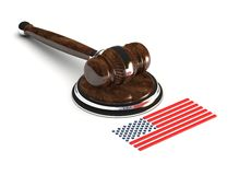 Młot sprawiedliwość USA Ilustracji