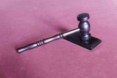 młoteczka sędziego fotografia realistyczna Obraz Royalty Free
