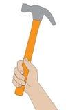 młoteczkowa ręka Fotografia Stock