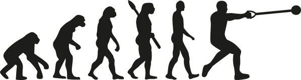 Młoteczkowego rzutu ewolucja ilustracji