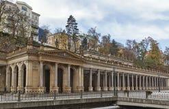 Młyńska kolumnada, Karlovy Zmienia zdjęcie royalty free