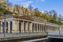 Młyńska kolumnada, Karlovy Zmienia zdjęcie stock