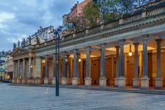 Młyńska kolumnada, Karlovy Zmienia fotografia stock